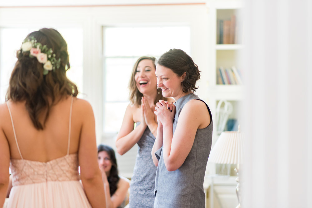 Bridal reveal at the pierce house