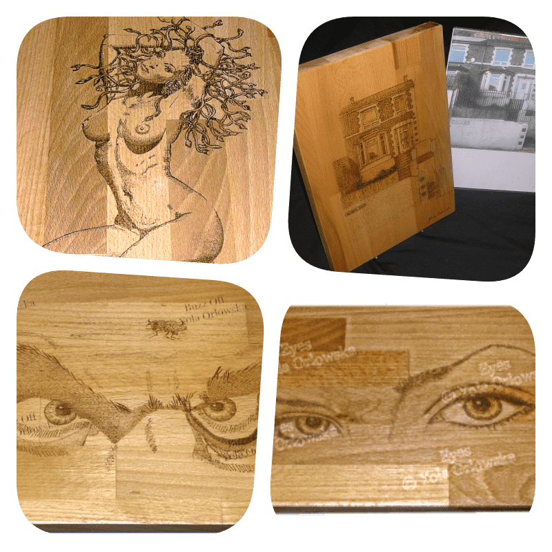 Pyrography Collage