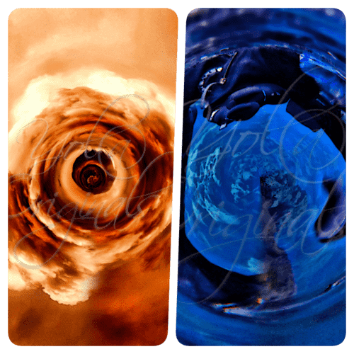 Visual Escapism - Flower of Fire and Through the Plughole Collage