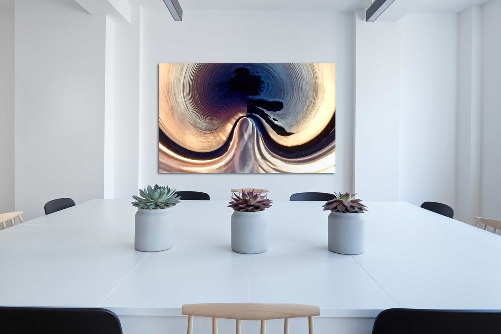 Infinity abstract artwork available as acrylic glass and fine art prints