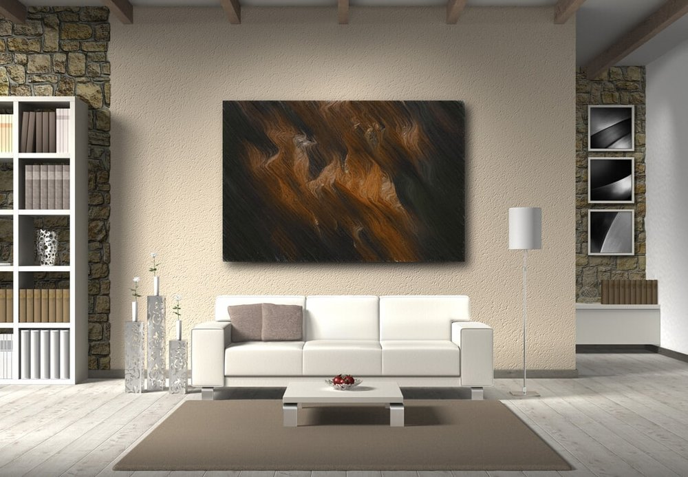 Wildebeest Migration abstract artwork on canvas and fine art prints