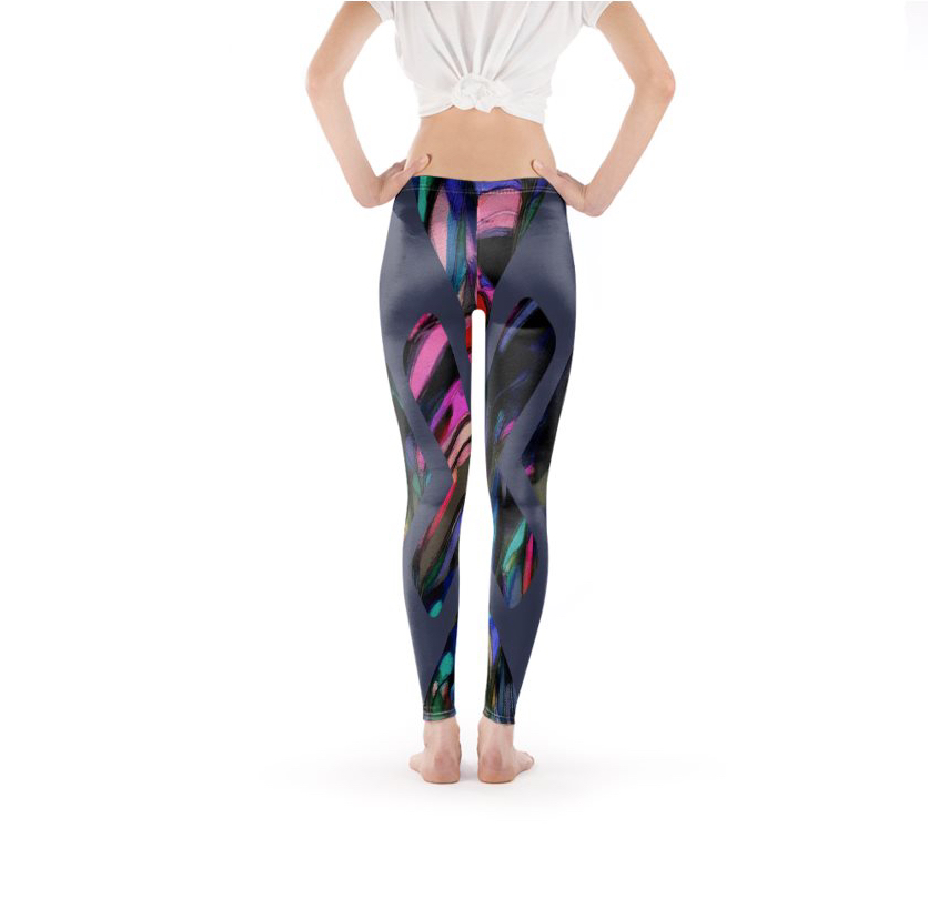 Abstract Jungle Leggings