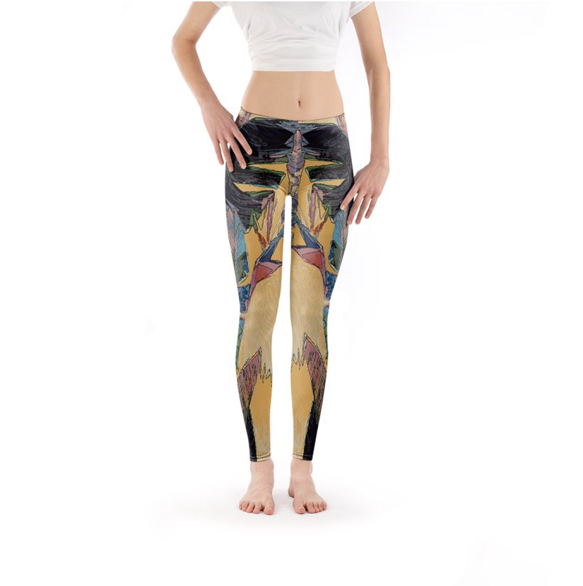 Jagged Tropical Leggings