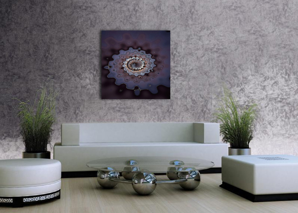 Liquid Cogs abstract artwork available as alu-dibond and metallic fine art prints