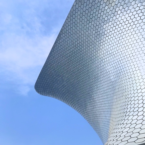 How cool is the outside of the Museo Soumaya?!
