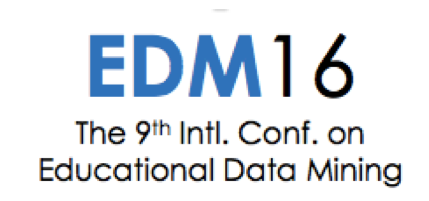 LearnPlatform, EDM2016, Educational Data Mining, conference, published research