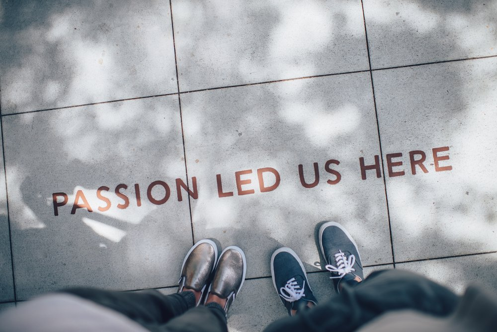 """Passion led us here"" image"