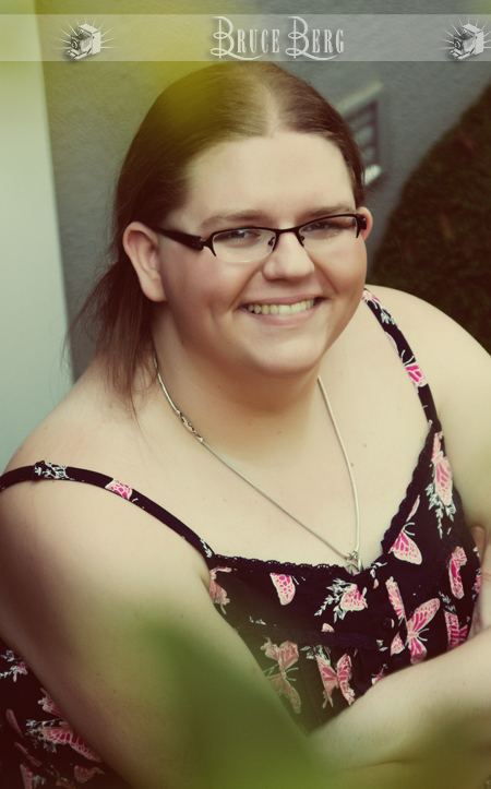 girl with glasses overweight smiling high school