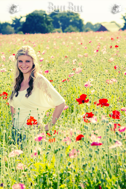 teenage girl in flowers fields oregon