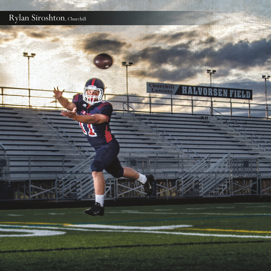 Churchill High School football player in Eugene Oregon a photographers dream