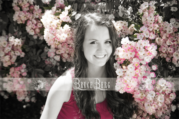 spring flowers for senior photos