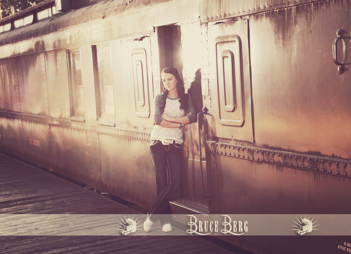 cool teen girl by train car