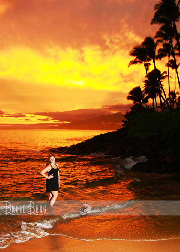 maui sunset senior pictures