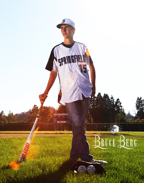 Always fun to incorporate music or sporting equipment for your senior pictures!