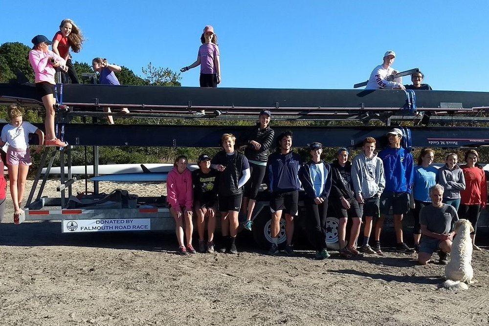 Thank you, Falmouth Road Race, for the new boat trailer!