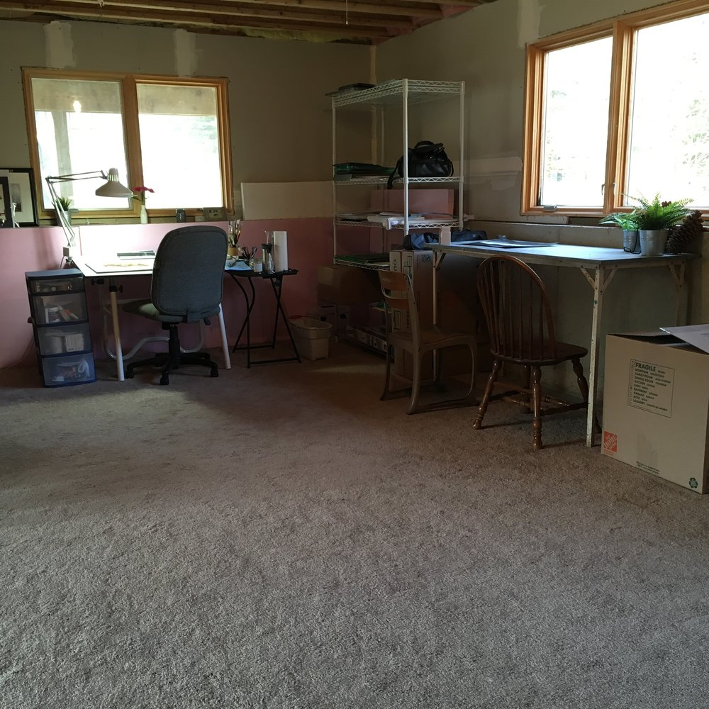 My new studio in Lowell Michigan