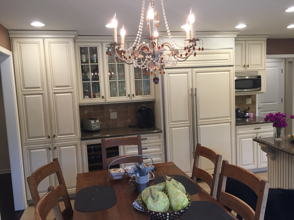 Perfect Custom White Wood Kitchen Complete Cabinets Sub Zero Thermador  Appliances
