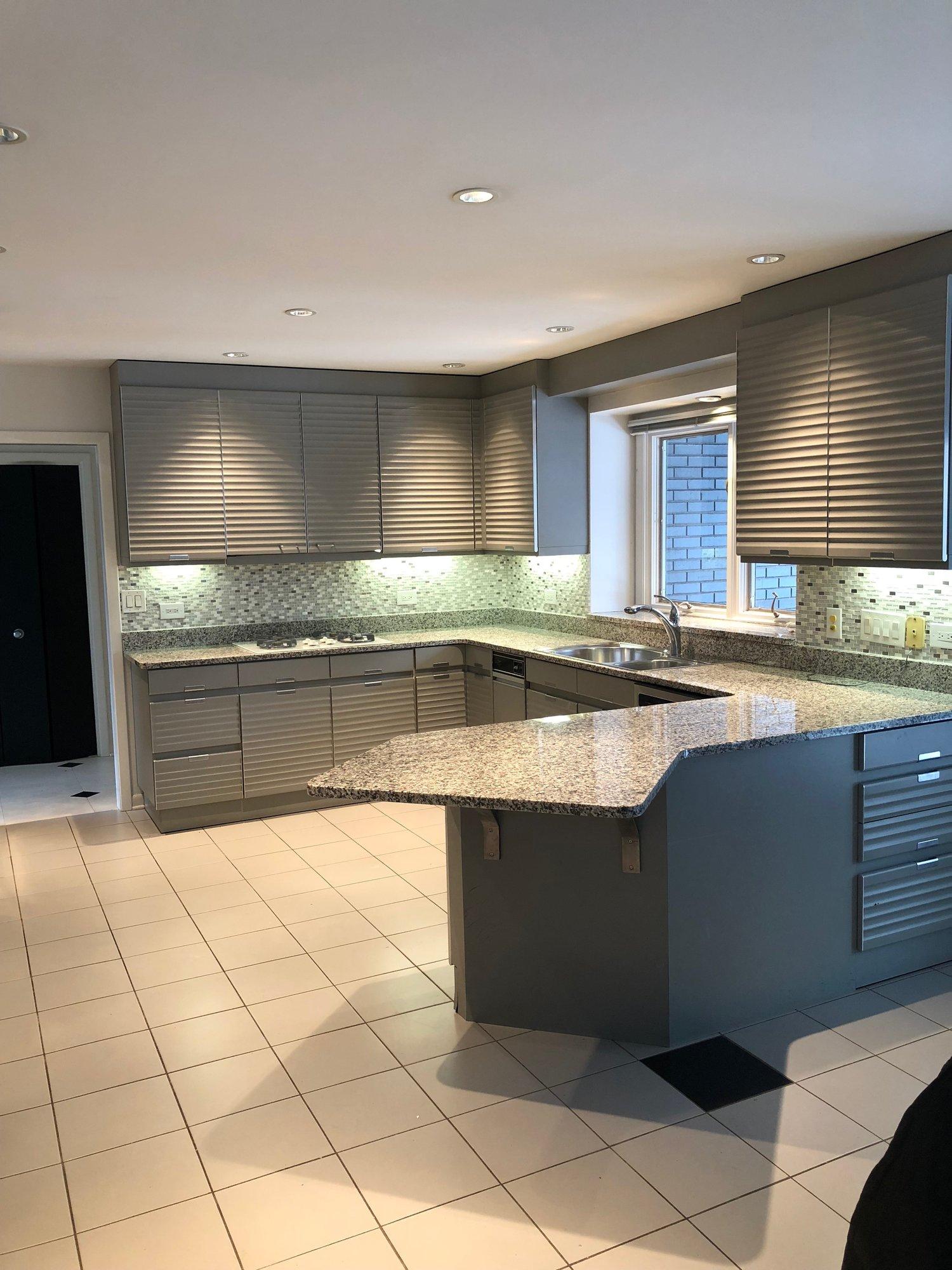 Allmilmo Custom Modern Gray Complete Kitchen Sub Zero Thermador Stainless Appliances Granite Little Green Kitchens