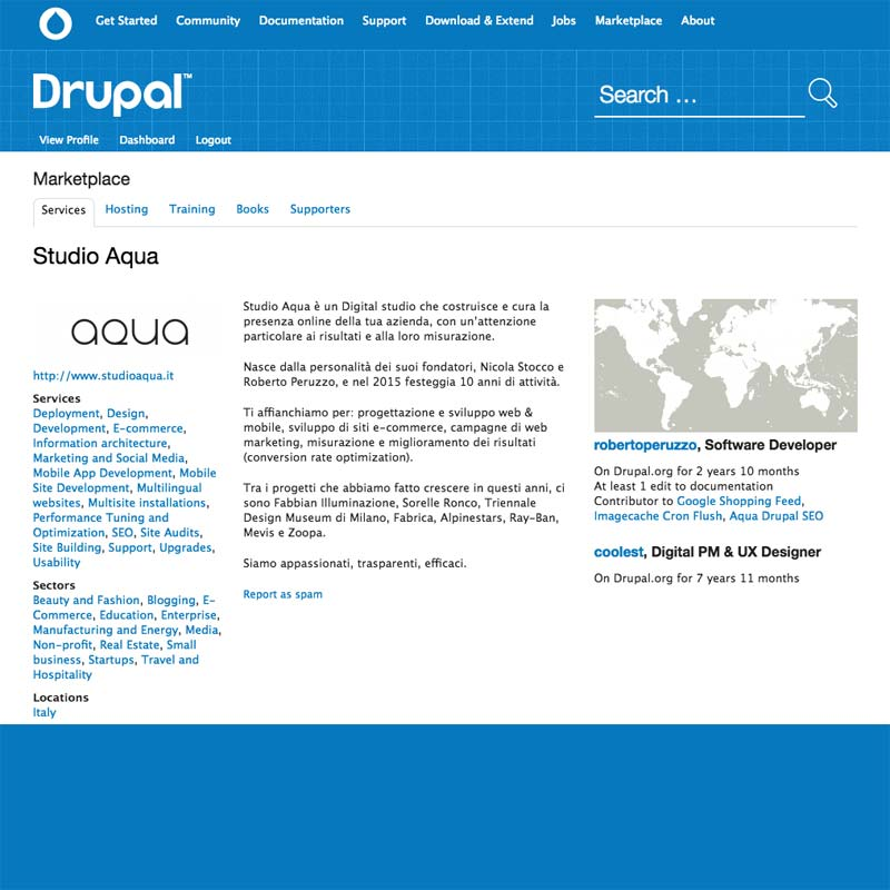 Partecipiamo attivamente nella comunità Drupal