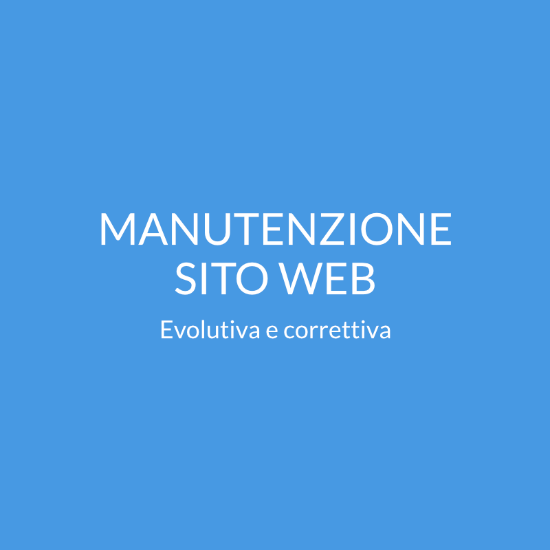 Manutenzione sito web