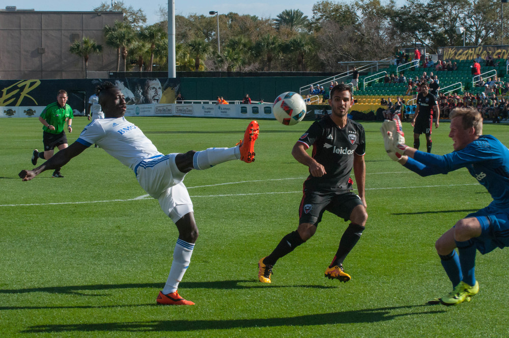 Dominic Oduro chipping the ball over the keeper's head for his first of two goals on the day. Patrick Patterson 2016