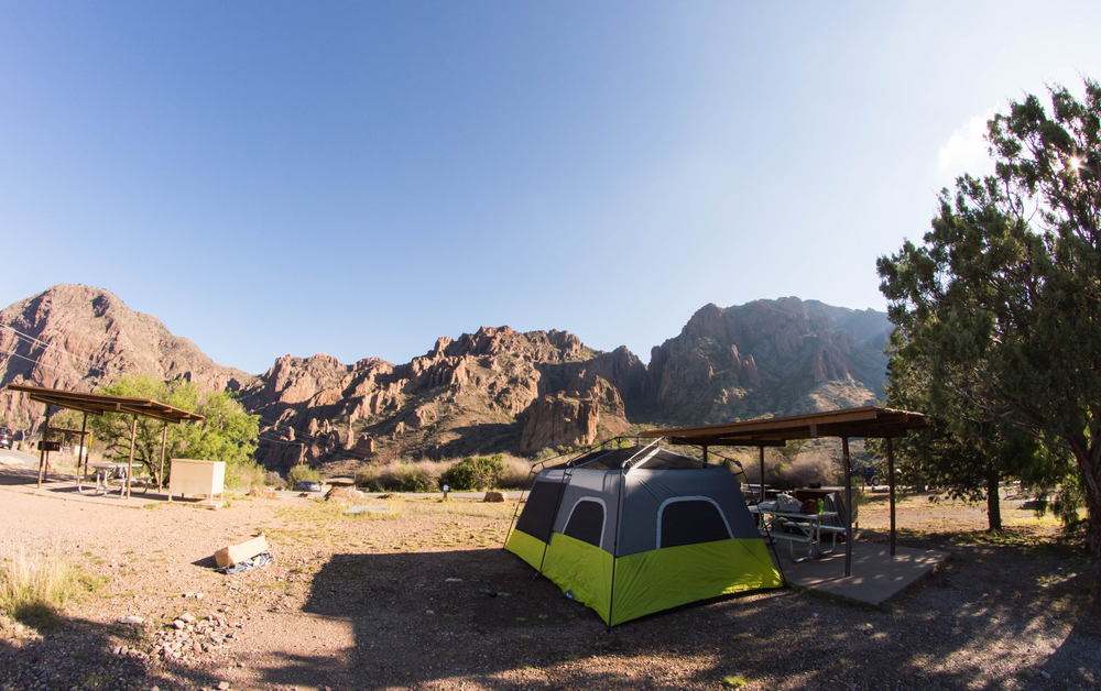 Campsite at Chisos Basin