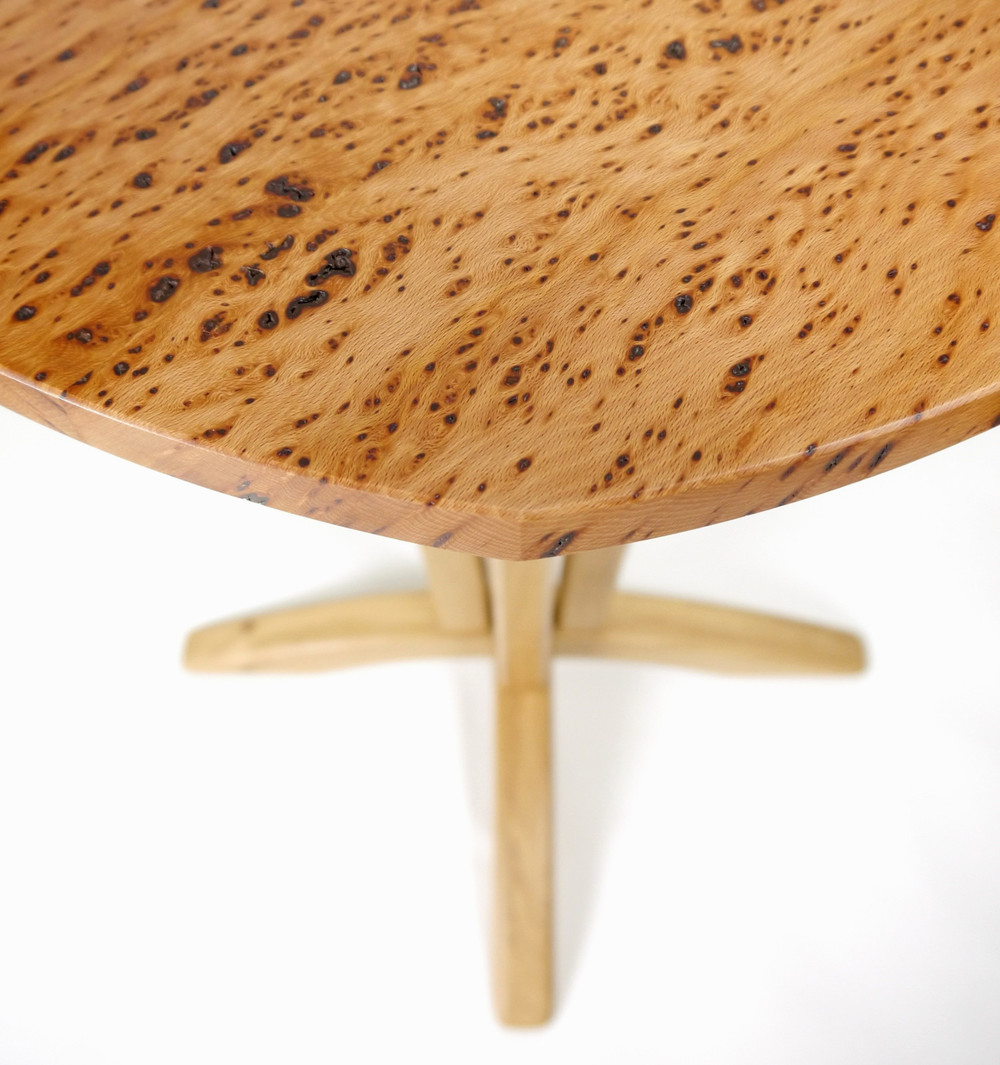 Flecky Beech Side Table by Alasdair Wallace Furniture Maker