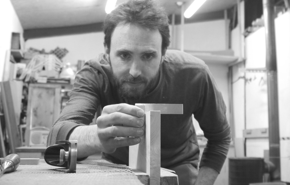 Alasdair Wallace Furniture Maker in his Workshop