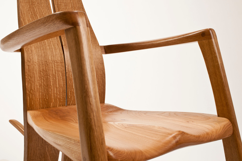 Cumbrian Rocking Chair in Oak by Alasdair Wallace Furniture Maker