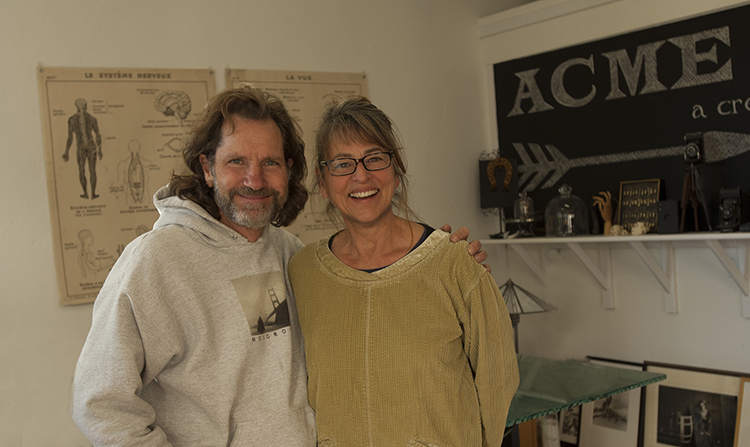 Anne Cook and Will Mosgrove, of Acme Art - Moke Hill