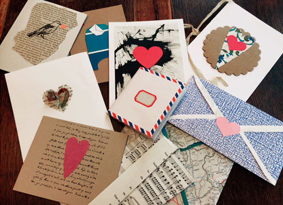 """Valentine's day - up-cycle """"Make and Take"""" project."""