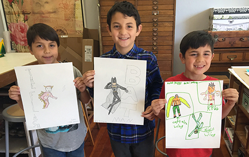 Superhero Drawing Class