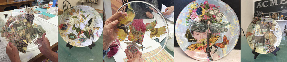Reverse Decoupage on Glass Plates