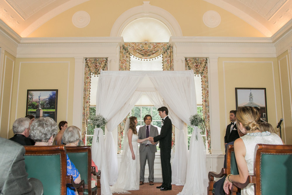 The ceremony was held inside within the main dining room, it was July in Baltimore after all. The Club's staff made the set up look fantastic!