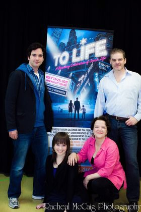 With Michael Torontow, Gabi Epstein, Shawn Wright in  To Life , Harold Green Jewish Theatre, 2011.
