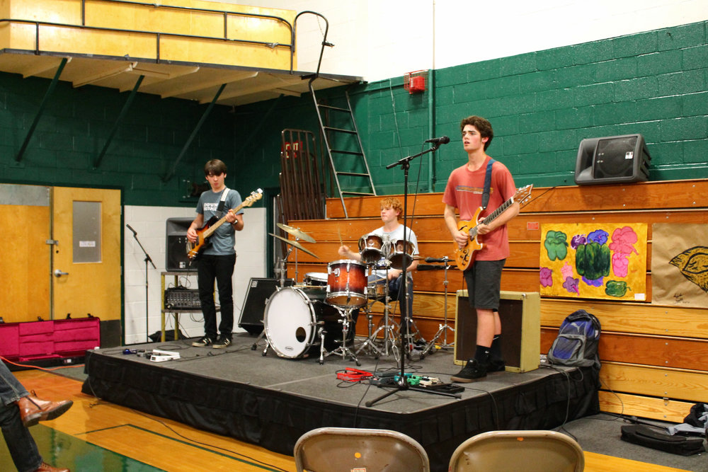 From left to right - Ericson Scott on bass, Chase Ruel on drums, and Machlan Petterson on guitar