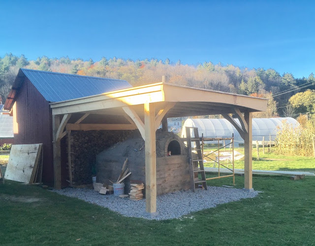 Pizza oven and roof finished in October (photo courtesy Solon Salutes)