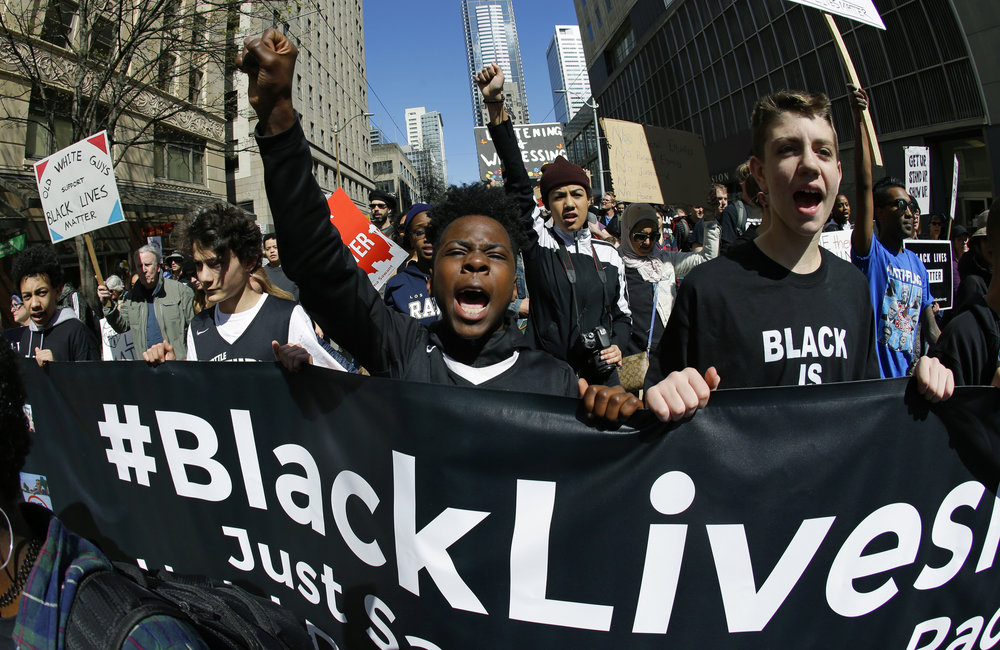 A 2015 Black Lives Matter protest in Chicago (Chicago Herald photo)