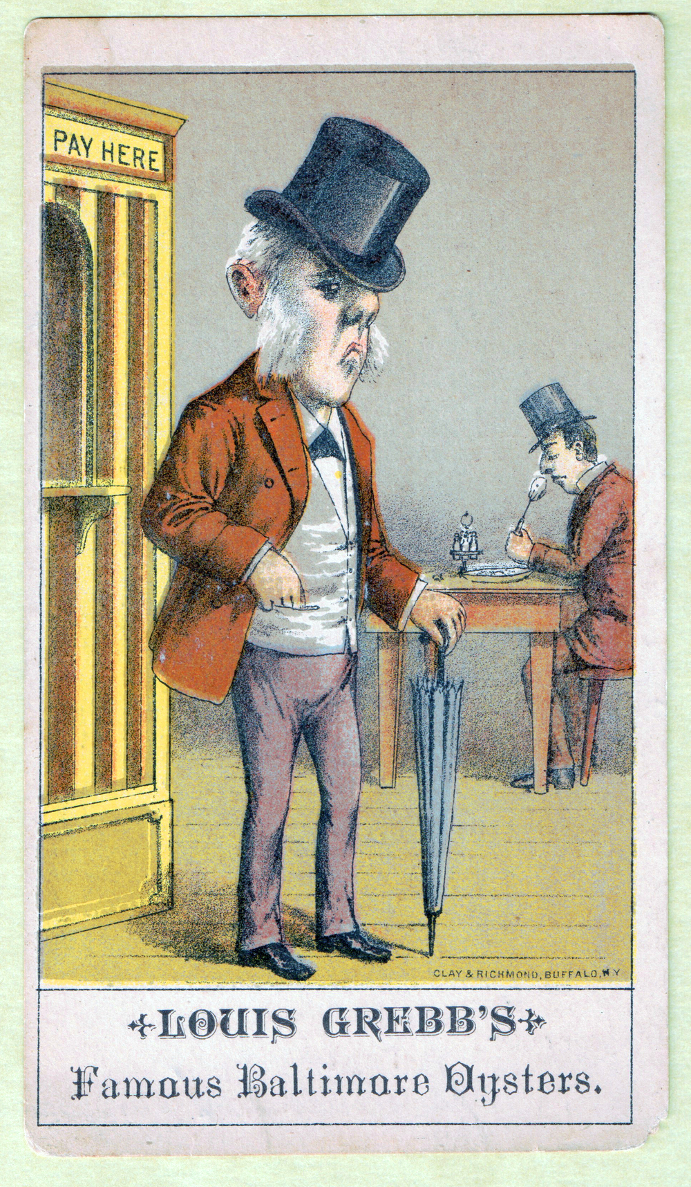 Louis Grebb trading card, 1888.