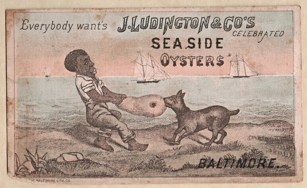 J. Ludington and Co Oyster trade card, late 19th century.