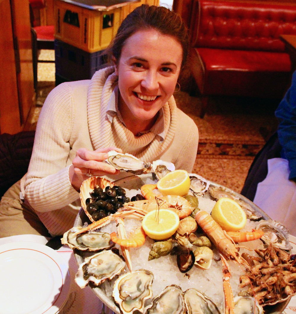 "A plateau des fruits de mer- just tell yourself, ""I'm on vacation!"""