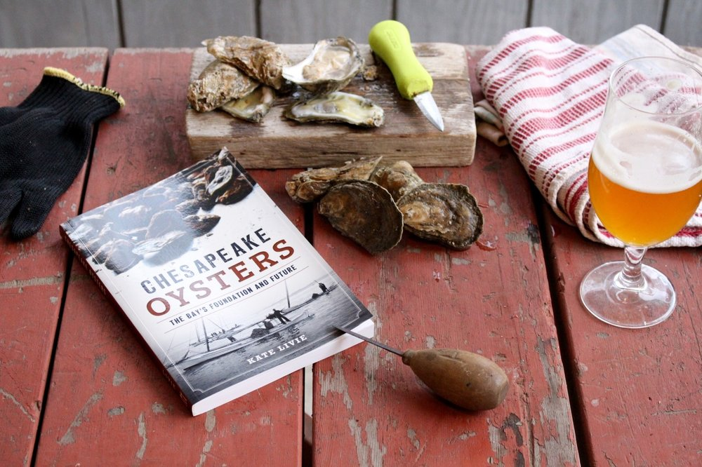 "Hey beautifulswimmers fans, the author of this blog, Kate Livie, has written a book! It's the epic story of the long, tangled story of Chesapeake oysters- and their role as a survival staple, mainstay of the economy, and cultural catalyst. If you've enjoyed her posts on the Bay's history, culture and the environment, it's worth a look. You can purchase it on Amazon, or Maryland residents can grab a copy at local retailers or book events throughout the state. The Chesapeake Bay Maritime Museum will be hosting a free book event for ""Chesapeake Oysters"" on November 20th at 5:00 PM- more information on that program is available at  cbmm.org .       Happy reading, and as Kate would say, ""Believe in bivalves!"""