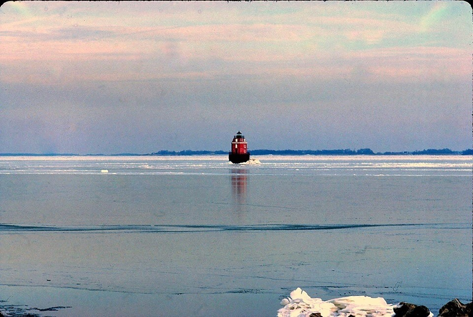 Winter on the Chesapeake Bay, Maryland 1977.    In honor of tonight's temperatures, which will dip to 9 degrees Fahrenheit, a little photographic reminder that when it comes to a cold Chesapeake, nothing is new.