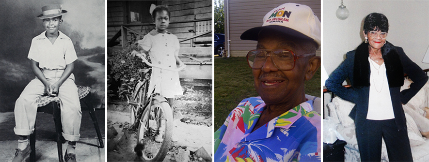 Lonnie, Sr. and Queen Esther, then and now.
