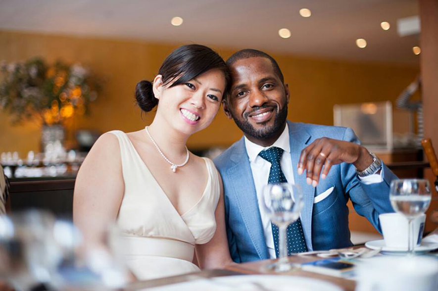 Kanako and Dexter Wimberly on their wedding day in May 2012. Photo: Hiroki Kobayashi