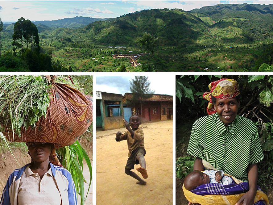 Banda Village, Nyungwe Rainforest, Bandan Villagers.