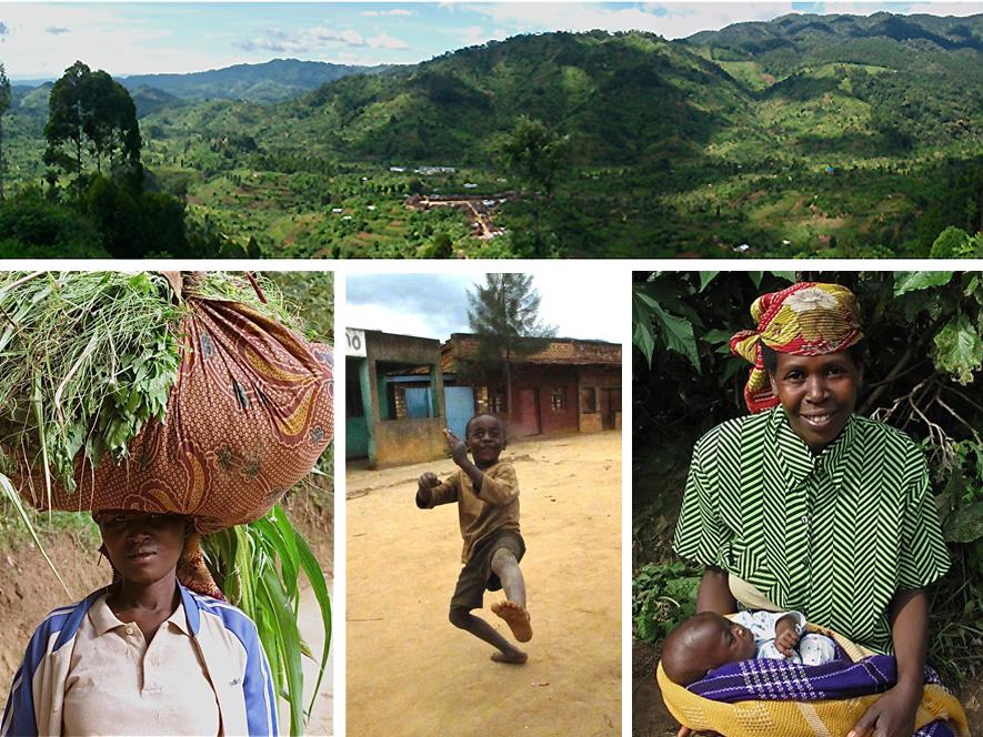 Banda Village, Nyungwe Rainforest, Bandan Villagers.