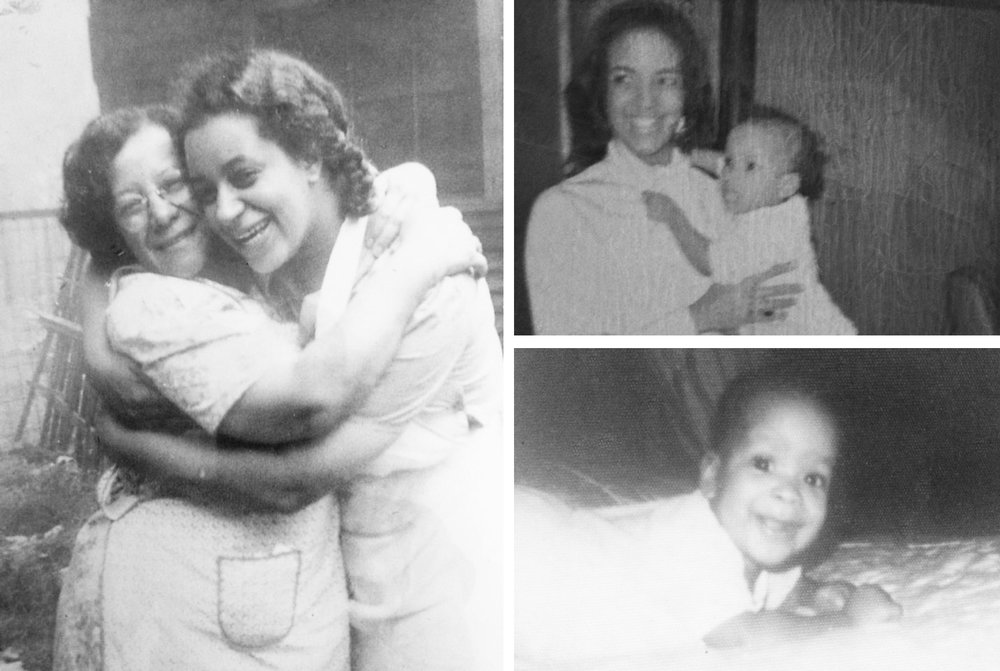 Generations: Fannie Bell Shackleford Martin embraces her daughter Frances Martin Suttles; Frances' daughter, Rita Suttles Combs embraces her youngest daughter; and baby Rhea. Photos courtesy of Rhea L. Combs.