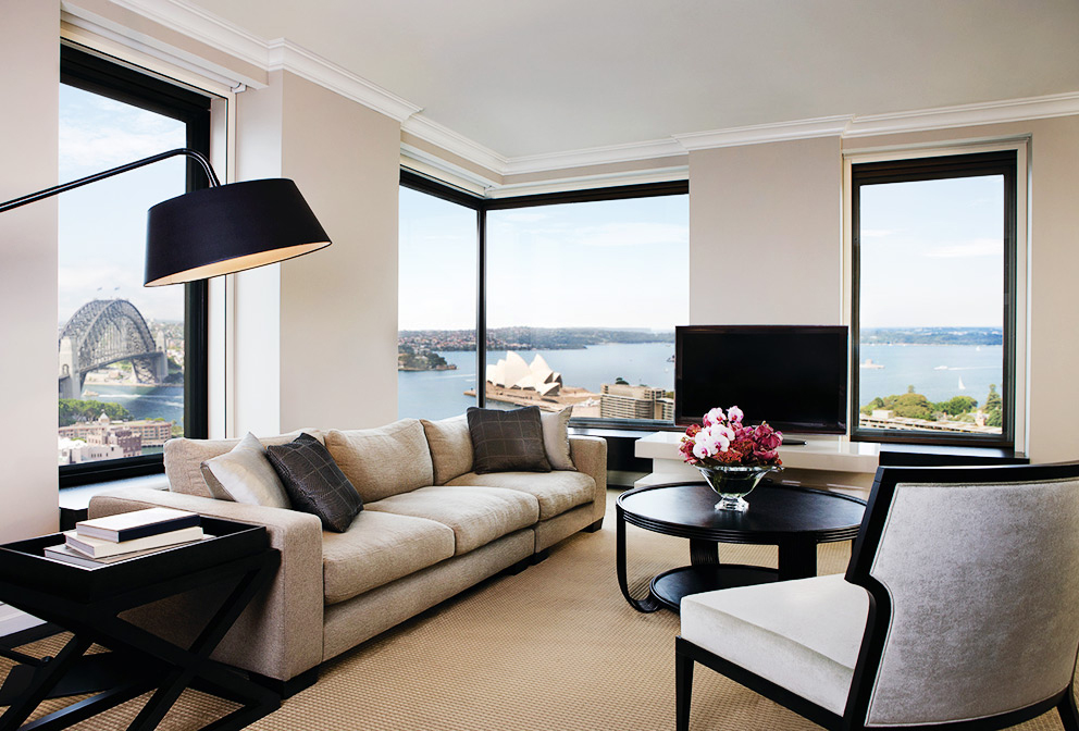 The stunning Presidential Suite at  Four Seasons Sydney  overlooks Sydney Harbour and the Iconic Opera House.