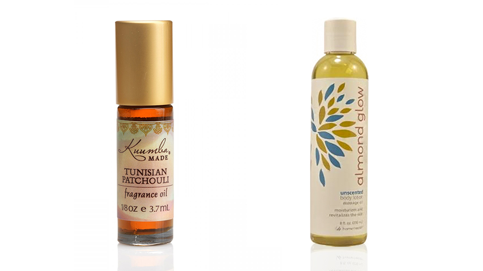 Tunisian Patchouli (left) and Almond Glow (right)